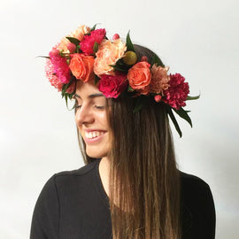 RAINBOW FLOWER CROWN