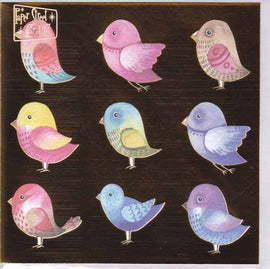 METALLIC BIRD GIFT CARD A118