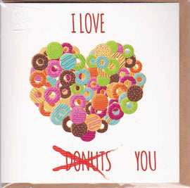 I LOVE DONUTS GREETING CARD
