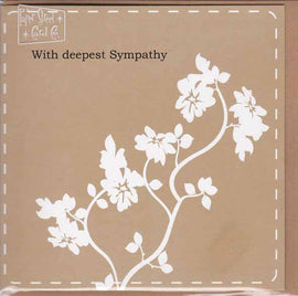 WITH DEEPEST SYMPATHY GIFT CARD K18