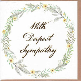 WITH DEEPEST SYMPATHY GIFT CARD A124