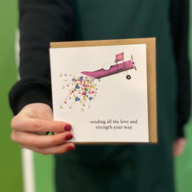 LOVE AND STRENGTH GREETING CARD