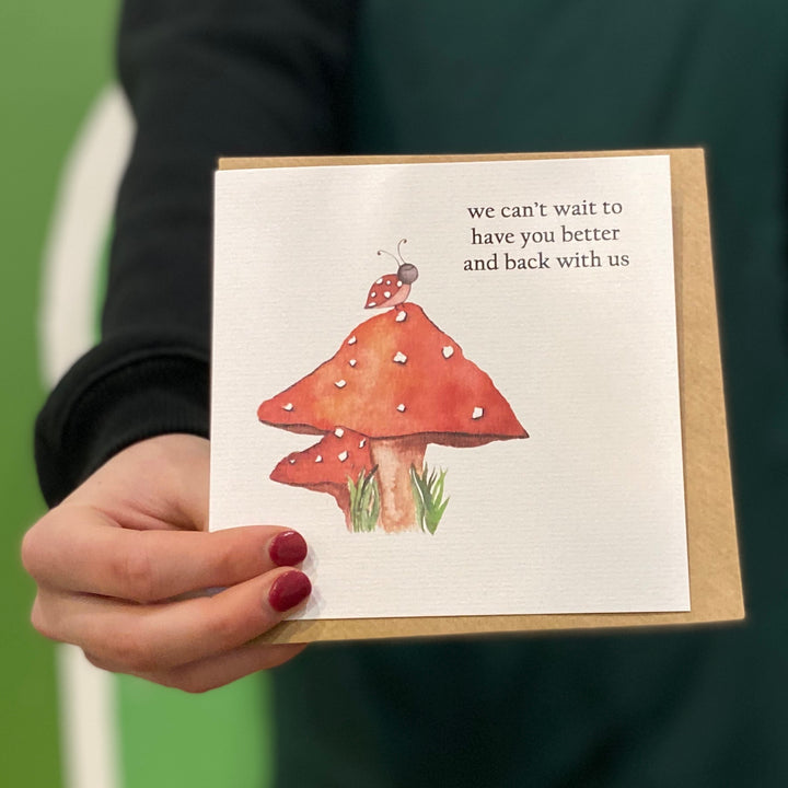 BETTER AND BACK GREETING CARD