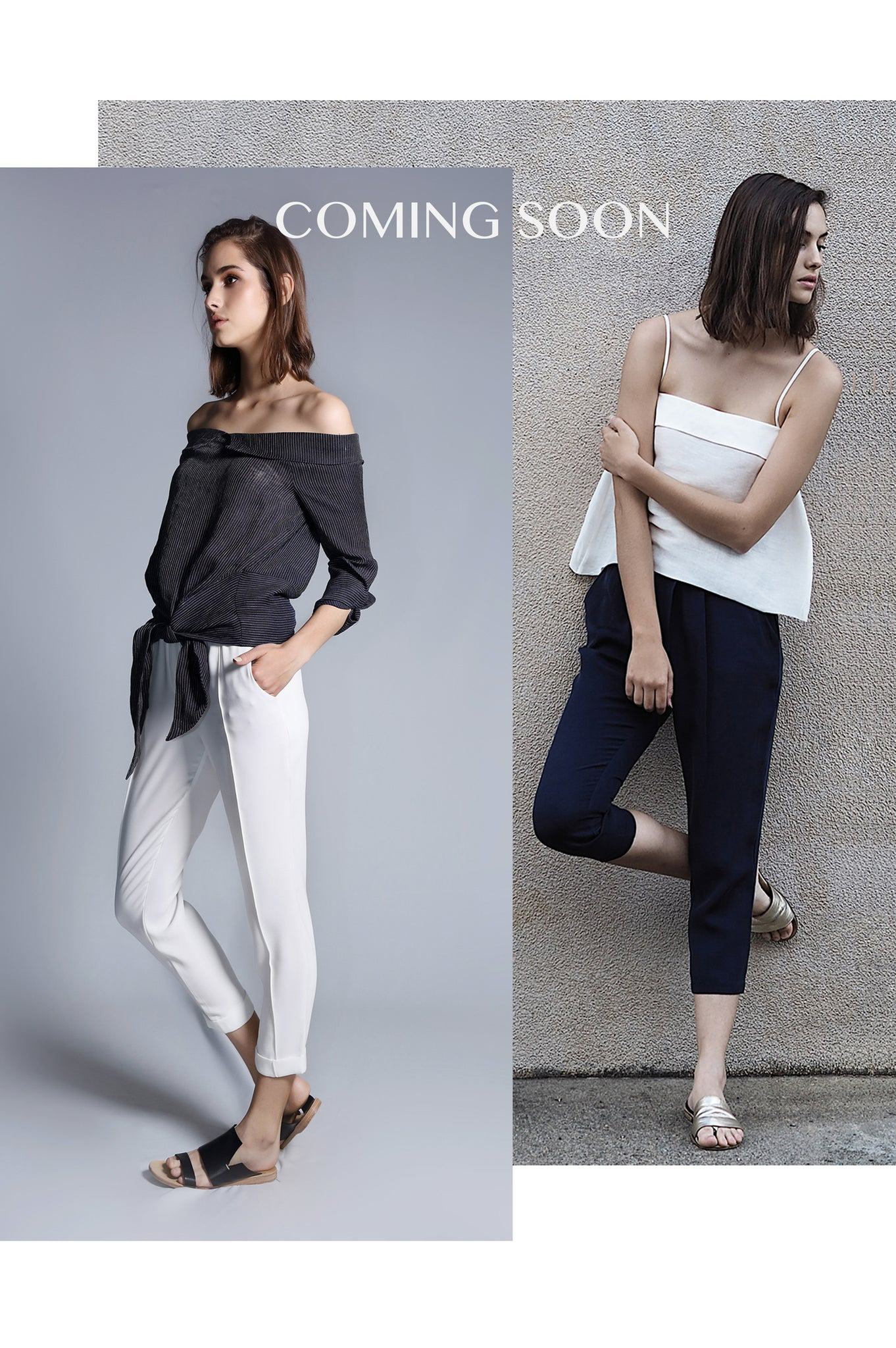 coming soon linen silk top shirt trouser womenswear fashion luxury label free and form