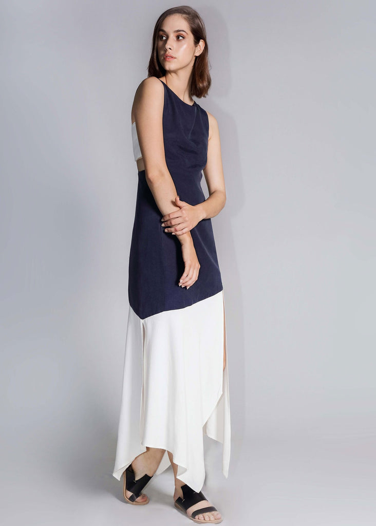 freeandform dress linen rayon cupro white blue navy black green mustard chartreuses fashion long length