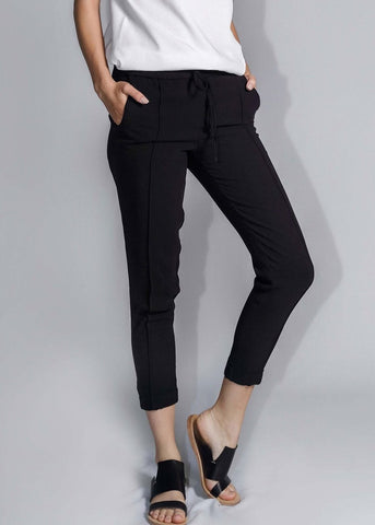 freeandform pants waist bottom trouser drawstrings black