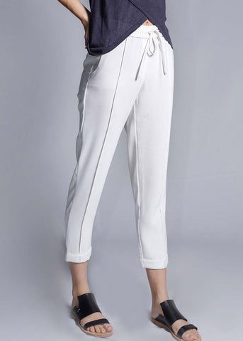 freeandform pants waist bottom trouser drawstrings white