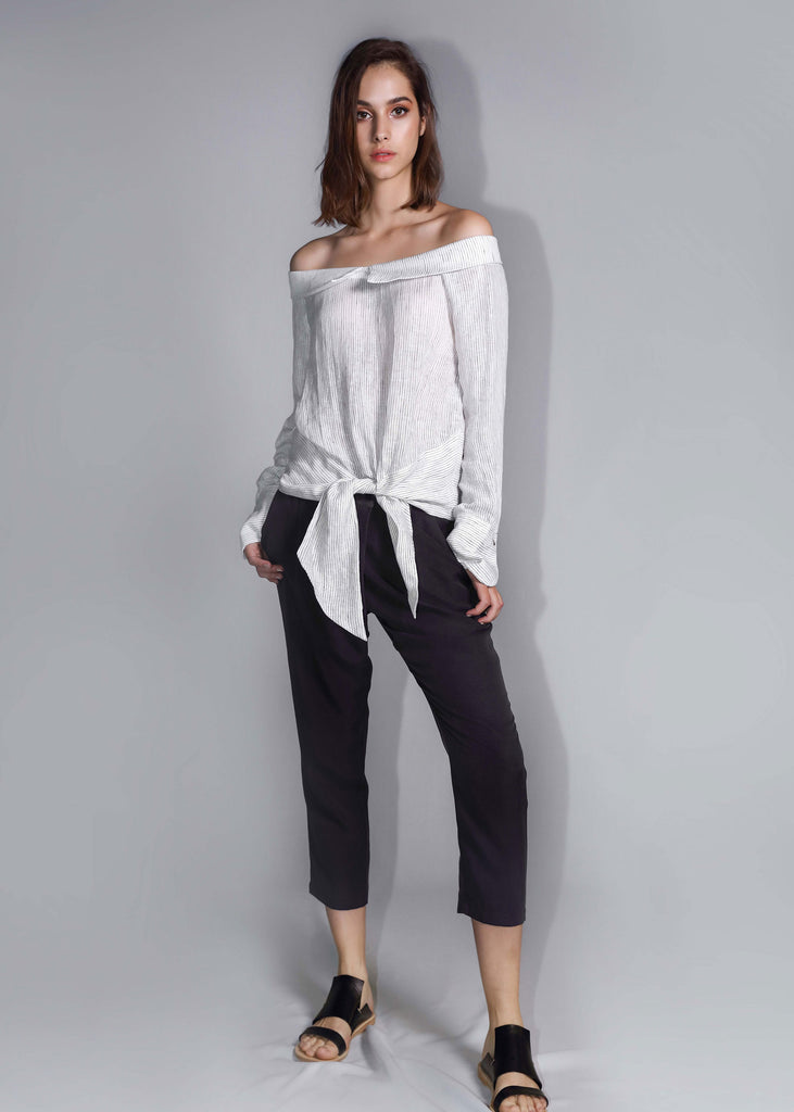 freeandform linen top casual summer white