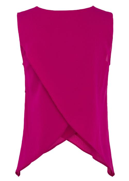 crossover silk top pink fuchsia womenswear fashion luxury label free and form