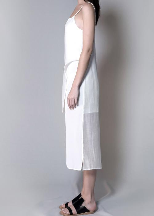 layer slip dress white womenswear fashion luxury label free and form