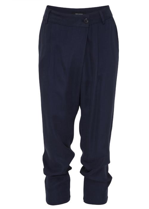 overlap cupro trouser navy free and form designer clothing