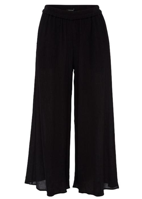 rib woven culottes black loose pants bottom free and form designer clothing