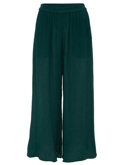 rib woven culottes green forest loose pants bottom highend freeandform