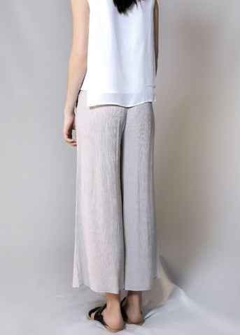 rib woven culottes grey gray loose pants bottom free and form designer clothing