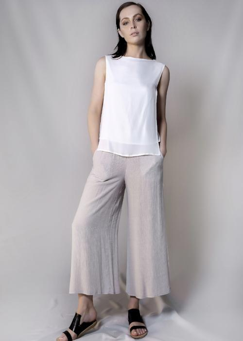 rib woven culottes grey gray loose pants bottom womenswear fashion luxury label free and form