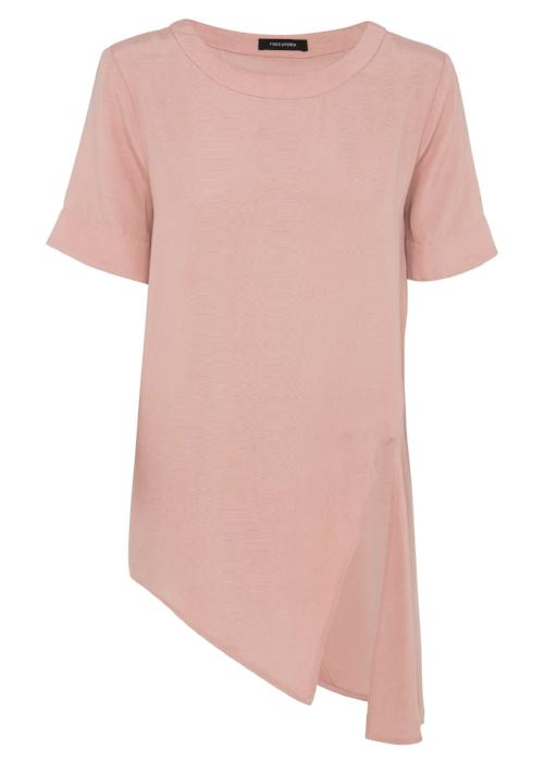 tuck it tunic top pink coral rayon cupro blouse womenswear fashion luxury label free and form