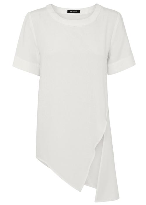 tuck it tunic top white rayon cupro blouse womenswear fashion luxury label free and form