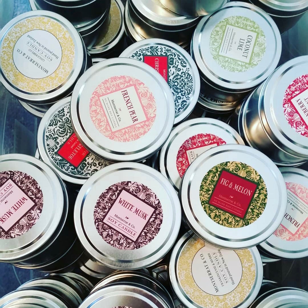 Soy Candles - Travel Tins