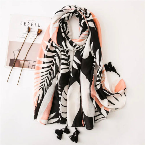 Blush Jungle - Tassel Scarf