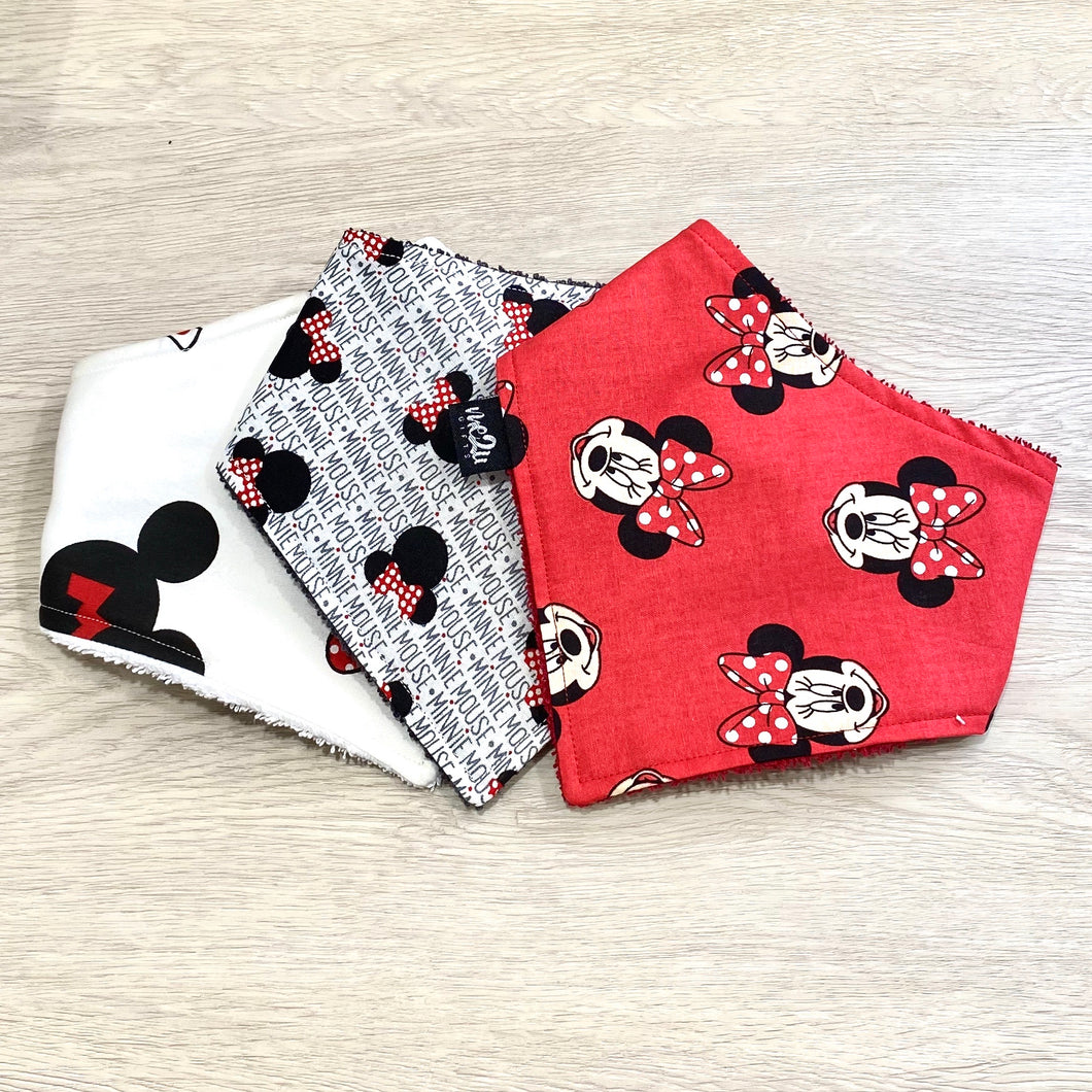 Limited Edition - Minnie Mouse Dribble Bibs Combo