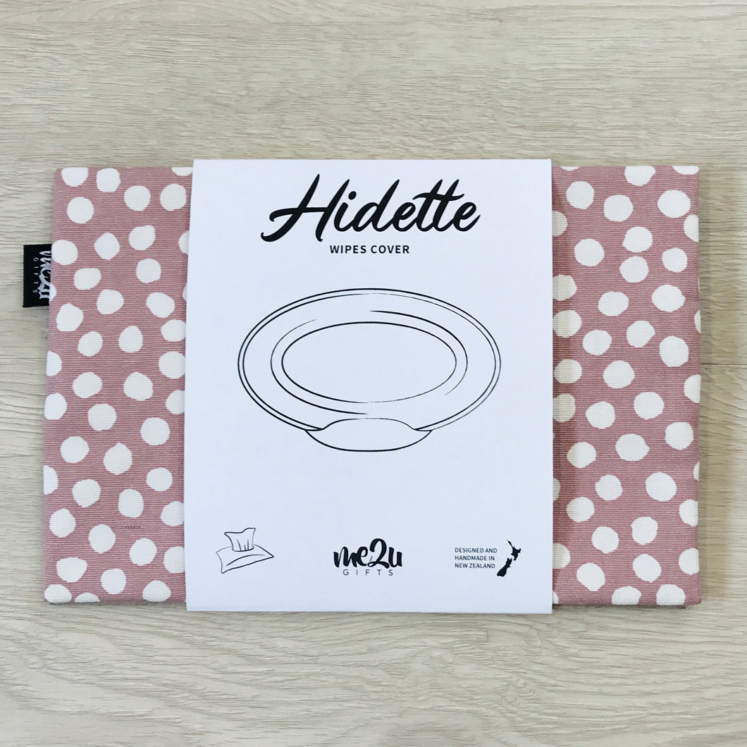 Hidette Wipes Cover - Blush Dot