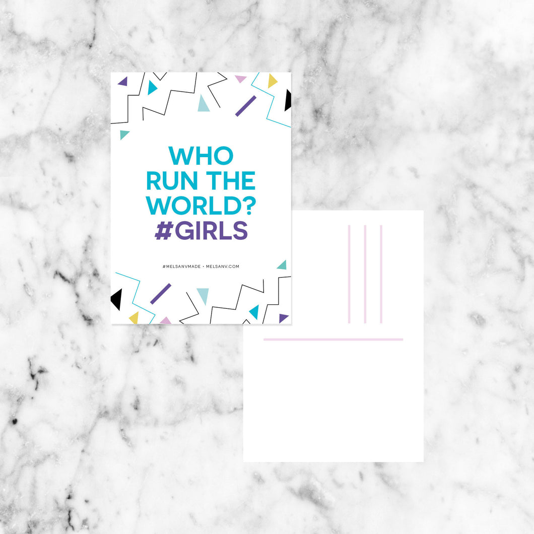 WHO RUN THE WORLD Postcard Pack