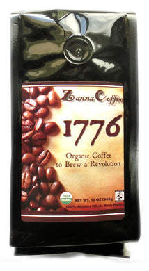 1776 Organic Coffee to brew a Revolution