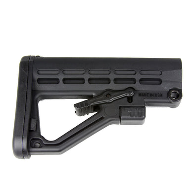 Enhanced AR 15 Skeleton Stock with Recoil Pad Made in the USA