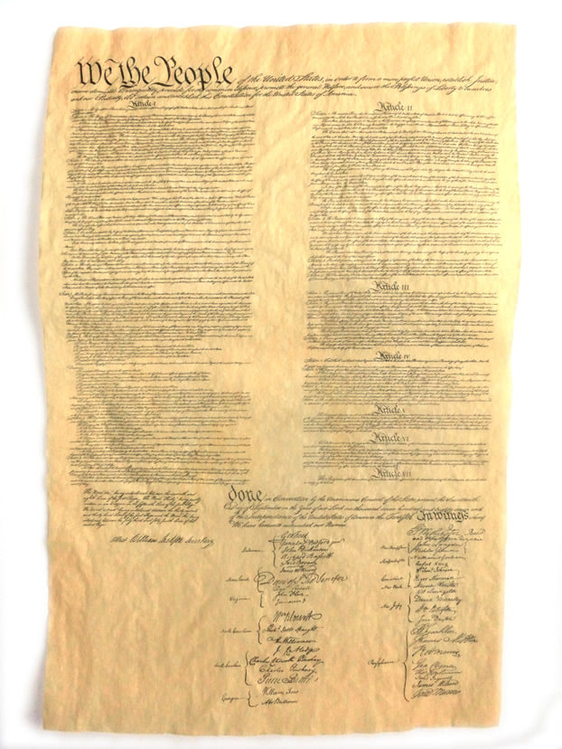 US Constitution Parchment Replica
