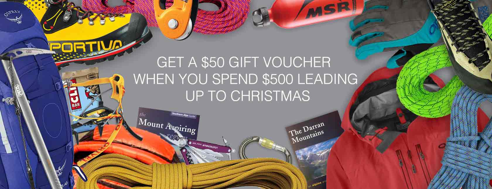 Mountain Equipment Christmas Gift Voucher Giveaway