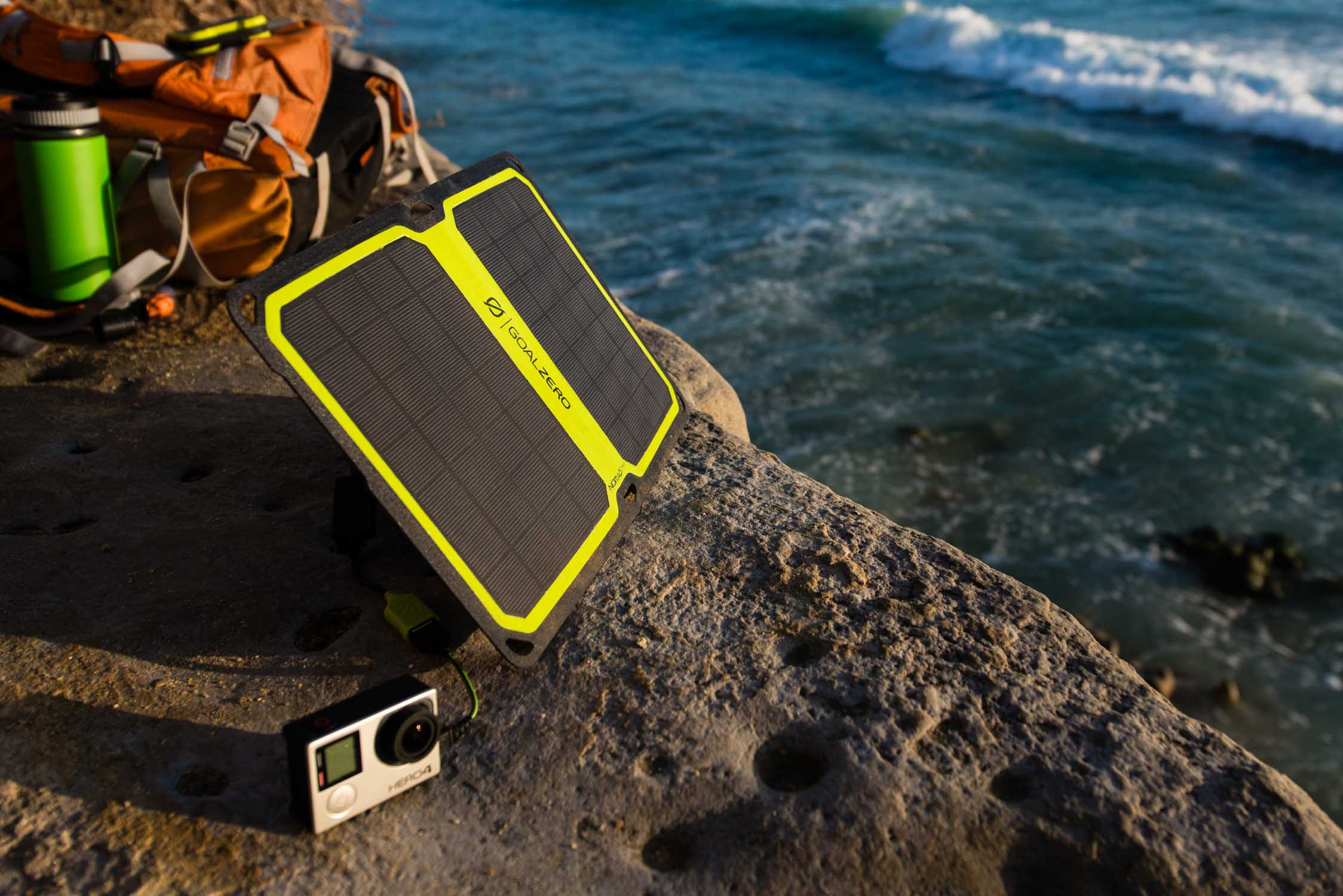 The new Goal Zero Nomad 7 Plus Smart Solar Panel. Photo: Travis Burke