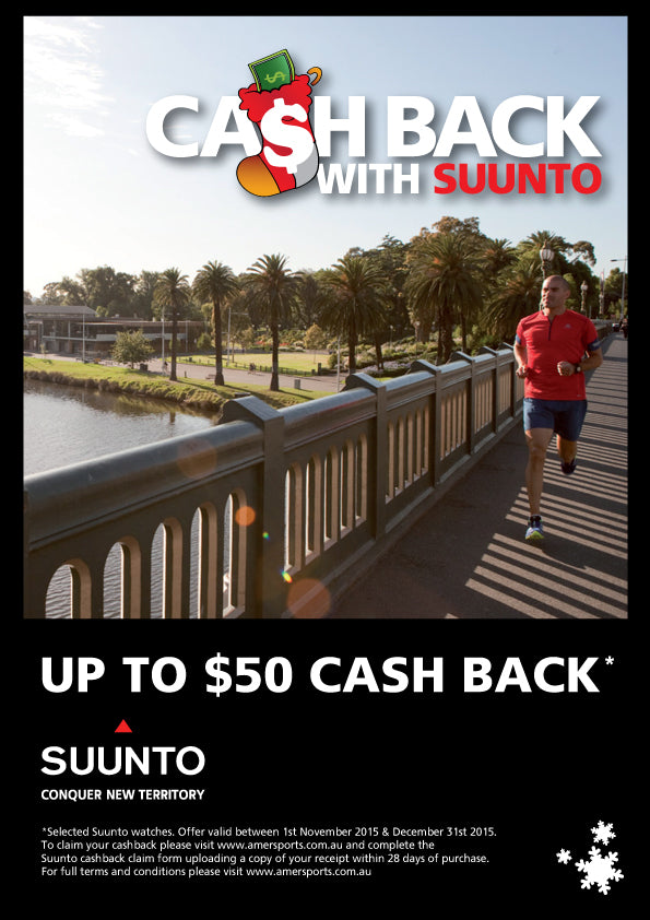 Suunto Cash back