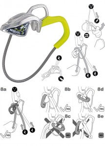 A sample of instructions for the Edelrid MegaJul