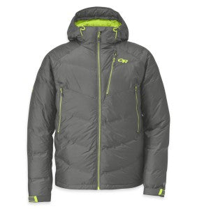 The Outdoor Research Floodlight Jacket in Pewter/Lemongrass