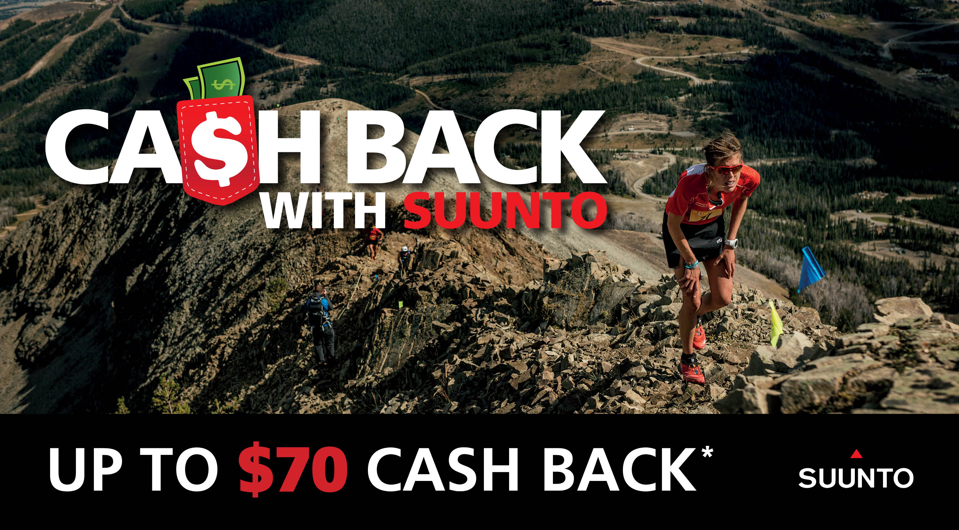 Cash back with suunto