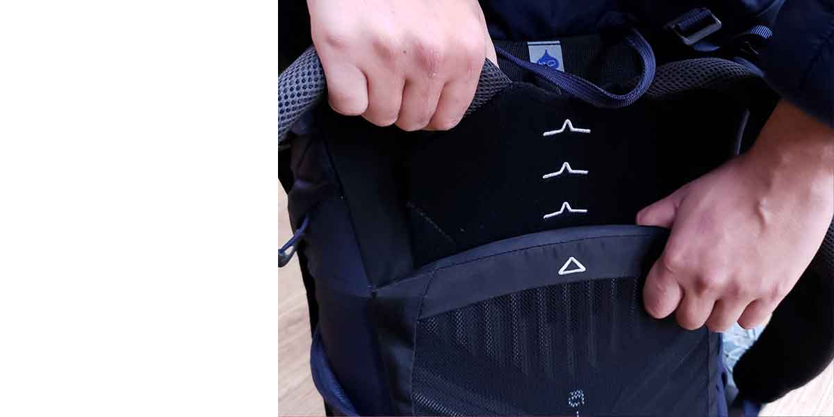 Hiking Pack fitting Guide 5 adjust the back length