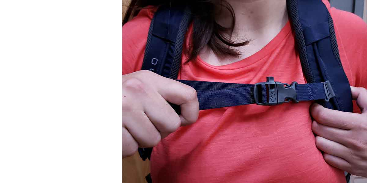 Hiking Pack Fitting Guide 7 chest strap