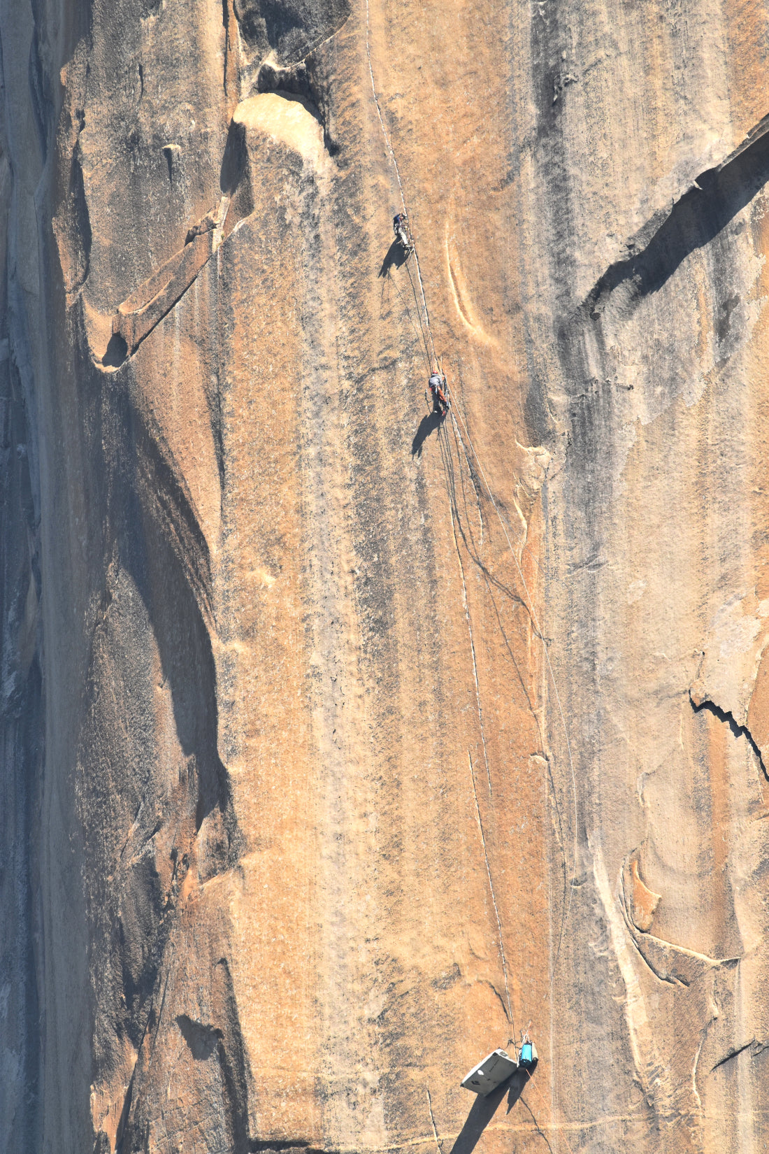 "James Davidson leading the ""triple cracks"" on The Shield, El Capitan"