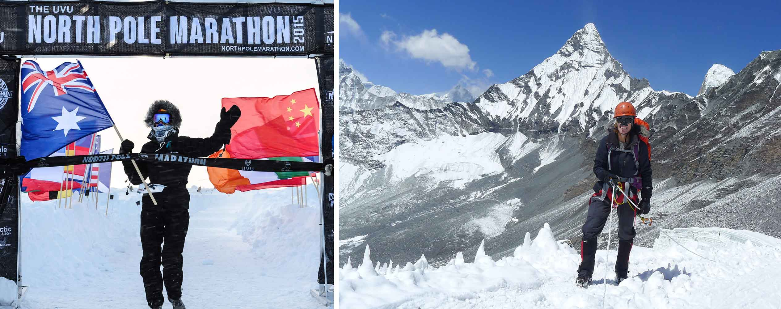 Heather Hawkins adventure runner - North Pole Marathon and hiking the Great Himalayan Trail