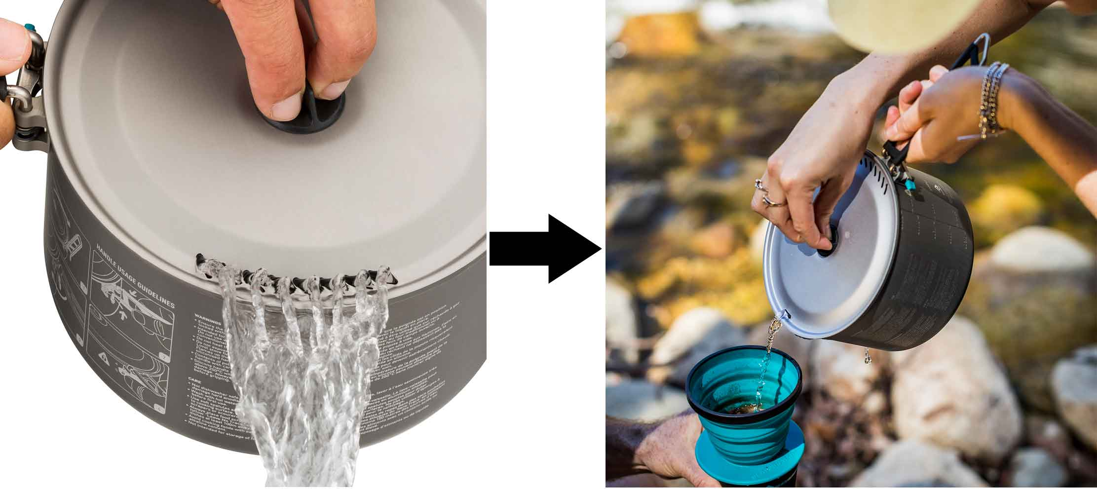 Sea To Summit Alpha pots strainer and pourer lid