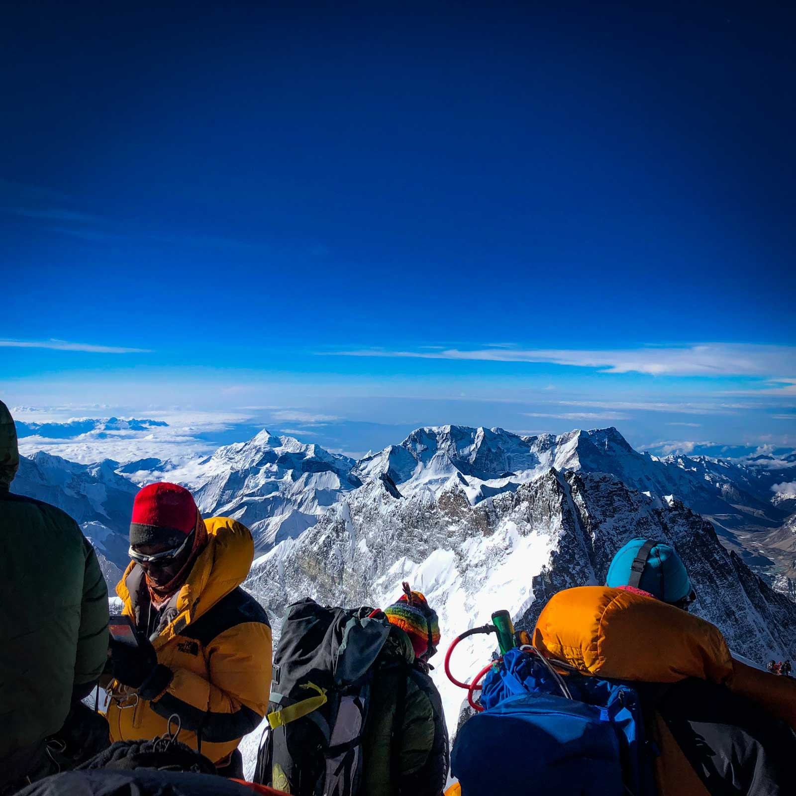 Everest summit shot, 2018