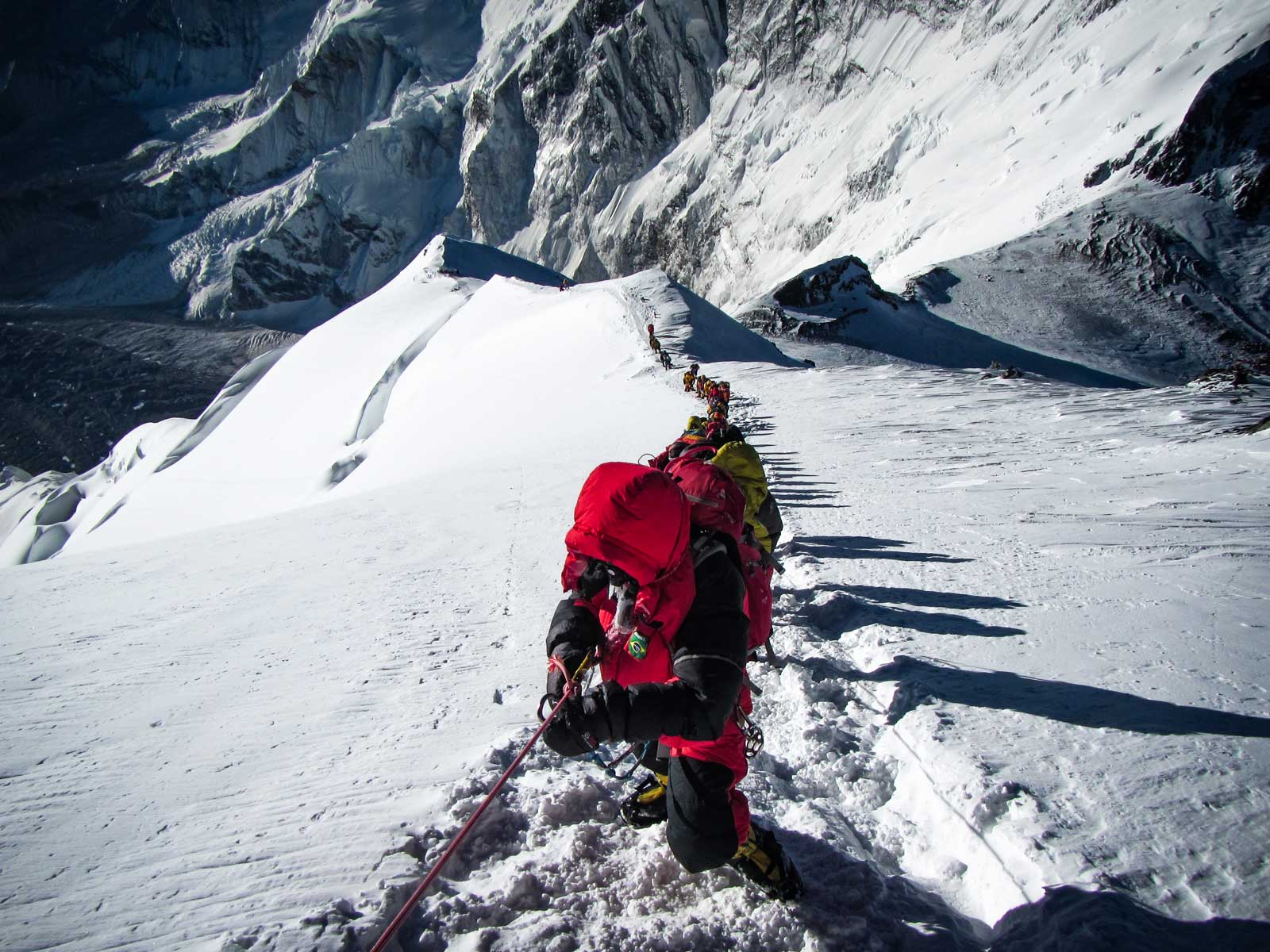South West Ridge of Everest, Looking down to the South Col