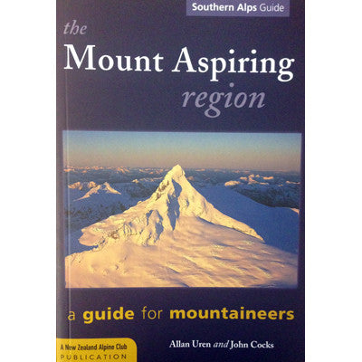 Mt Aspiring Region - Alpine Climbing Guide Book- Uren