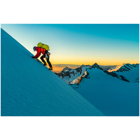 Ben Sanford - Print by Ben Sanford - Soloing the South West Ridge of Mt Aspiring
