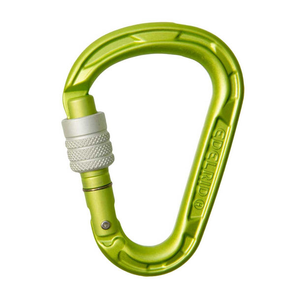 Edelrid - HMS Strike Screw Gate Belay Carabiner - Climbing Hardware