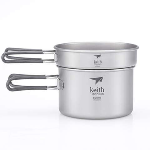 Keith - 2-Piece Titanium pot and Pan Cook Set