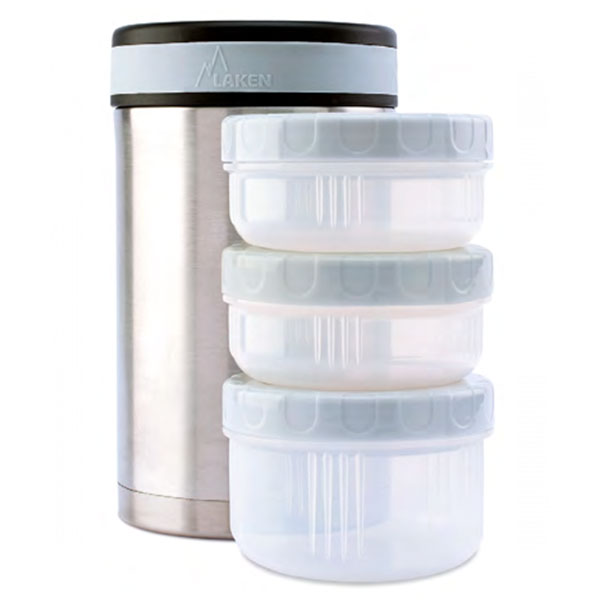 Laken - Insulated Stainless Steel 1.5L Food Flask - With Containers