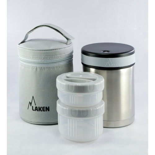 Insulated Stainless Steel 1L Food Flask - With Containers