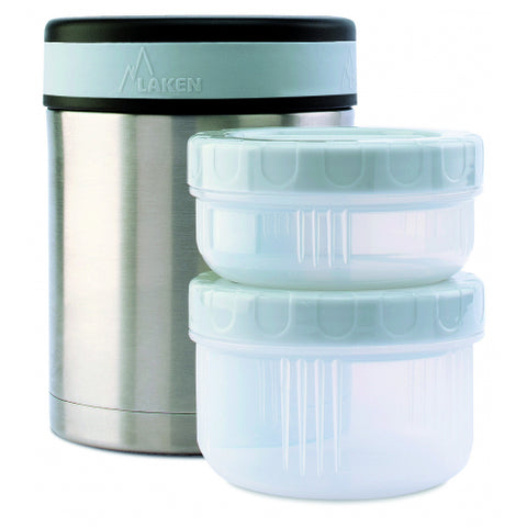 Laken - Insulated Stainless Steel 1L Food Flask - With Containers
