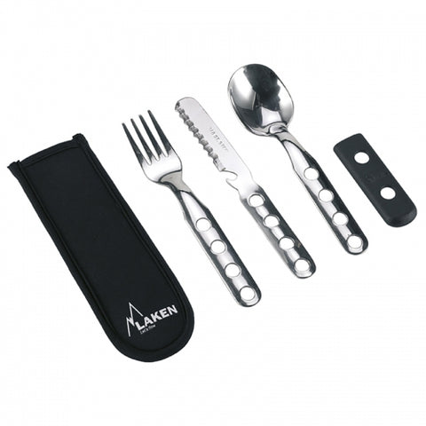 Laken - Stainless Steel Camp Cutlery Set - Knife, Fork, Spoon